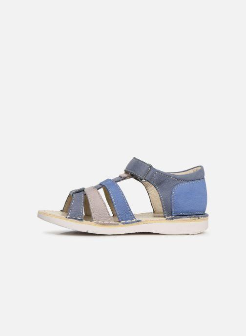 Sandales et nu-pieds Kickers Woopy Bleu vue face