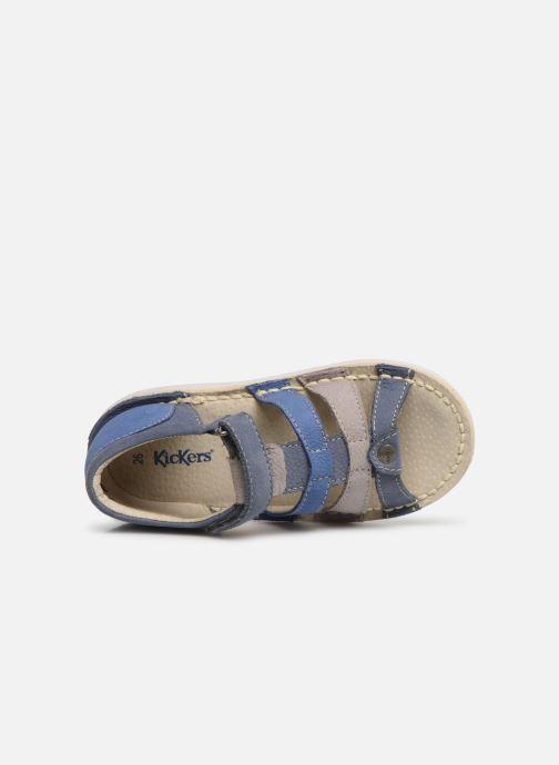 Sandales et nu-pieds Kickers Woopy Bleu vue gauche