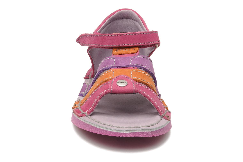 Sandales et nu-pieds Kickers Woopy Rose vue portées chaussures