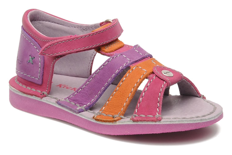 Sandales et nu-pieds Kickers Woopy Rose vue détail/paire