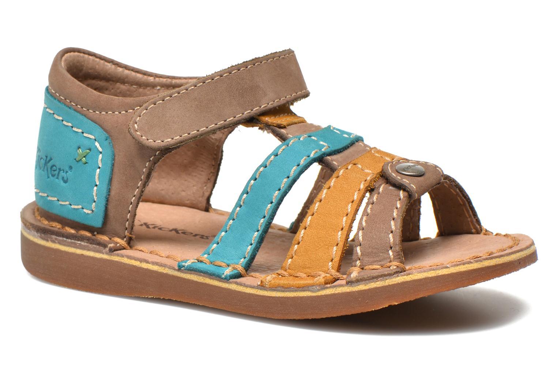 Sandaler Kickers Woopy Multi detaljeret billede af skoene