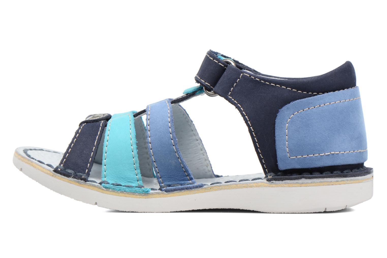 Sandali e scarpe aperte Kickers Woopy Azzurro immagine frontale
