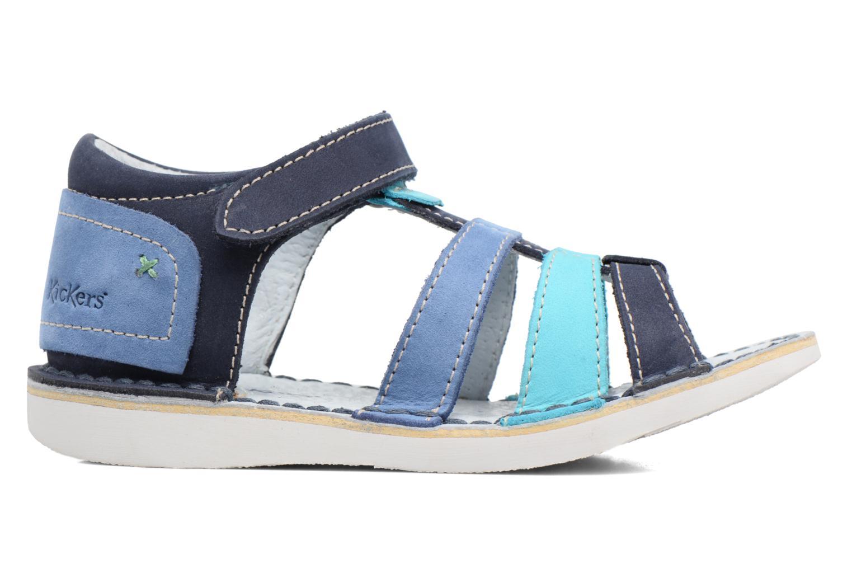 Sandali e scarpe aperte Kickers Woopy Azzurro immagine posteriore