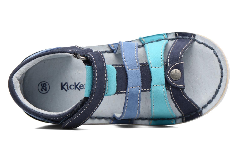 Sandali e scarpe aperte Kickers Woopy Azzurro immagine sinistra