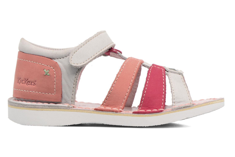 Sandaler Kickers Woopy Pink se bagfra