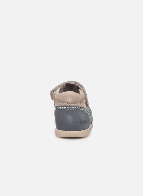 Sandalen Kickers Babysun grau ansicht von rechts