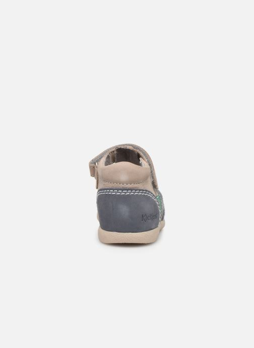 Sandales et nu-pieds Kickers Babysun Gris vue droite