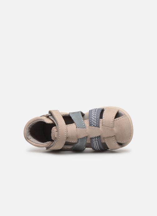Sandalen Kickers Babysun grau ansicht von links