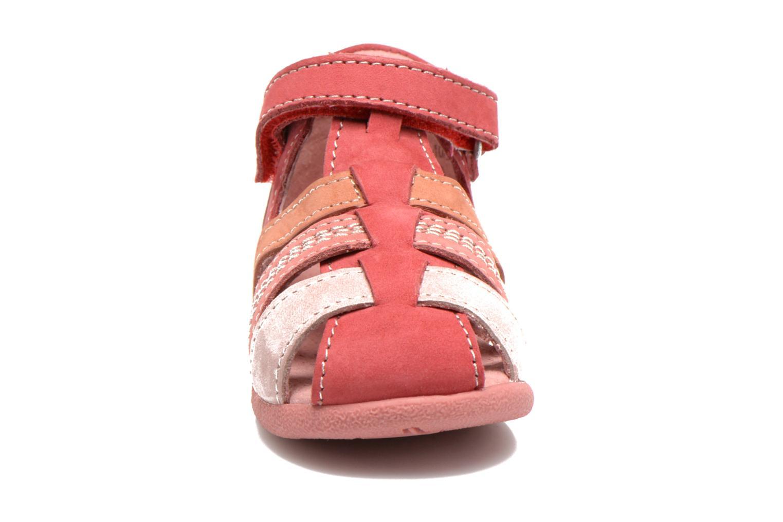 Sandales et nu-pieds Kickers Babysun Rouge vue portées chaussures