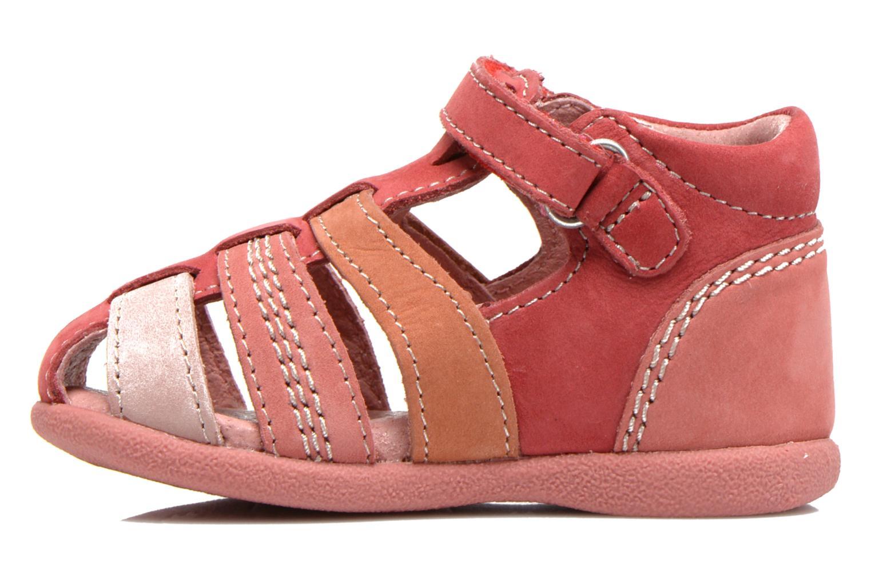 Sandales et nu-pieds Kickers Babysun Rouge vue face