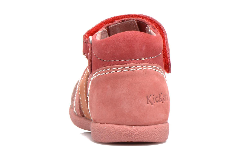 Sandales et nu-pieds Kickers Babysun Rouge vue droite