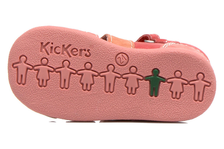 Sandales et nu-pieds Kickers Babysun Rouge vue haut