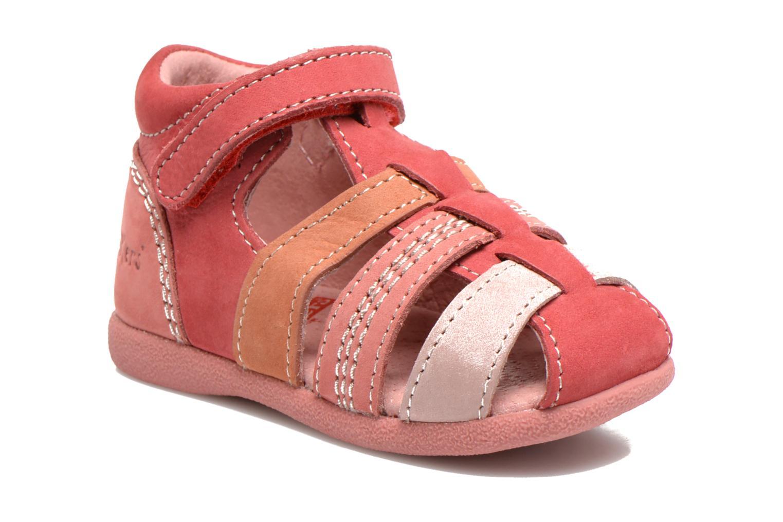 Sandales et nu-pieds Kickers Babysun Rouge vue détail/paire