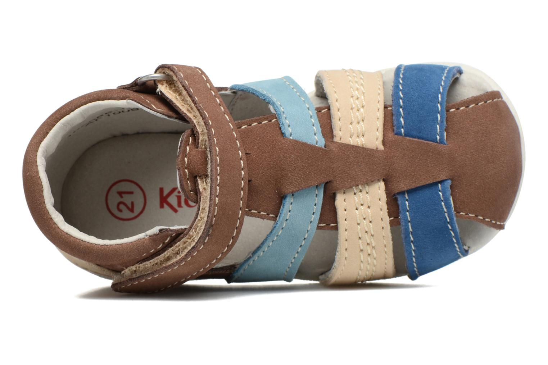 Sandales et nu-pieds Kickers Babysun Marron vue gauche