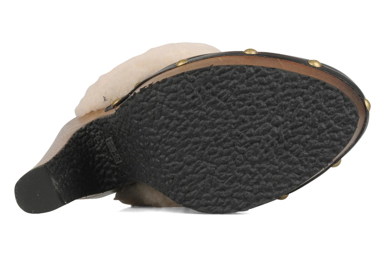 Mules et sabots Studio TMLS Fluffy Noir vue haut