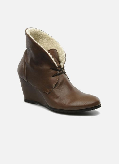 Ankle boots Eden Mimia Brown 3/4 view