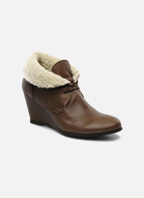 Ankle boots Eden Mimia Brown detailed view/ Pair view