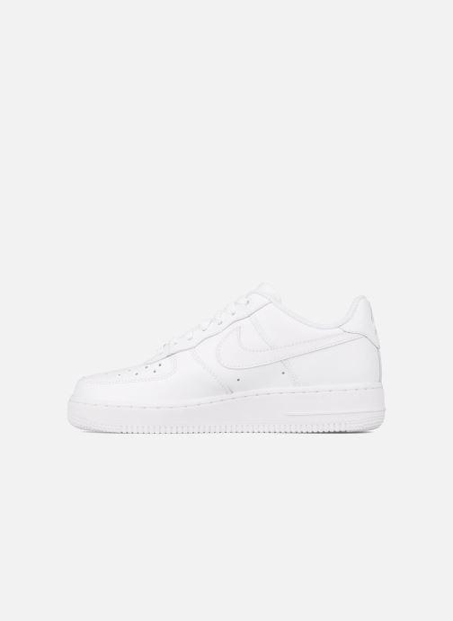 quality design d6dd4 4f4d5 Baskets Nike Air force 1  07 le Blanc vue face