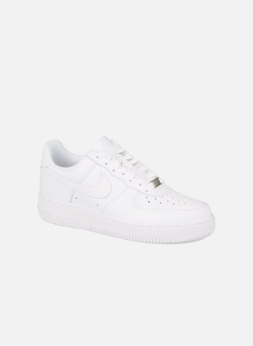 Deportivas Nike Air force 1 '07 le Blanco vista de detalle / par