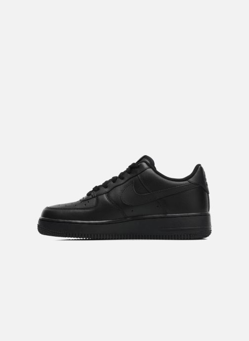 Deportivas Nike Air force 1 '07 le Negro vista de frente