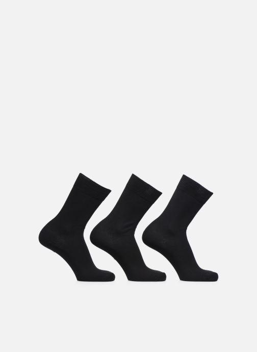 Chaussettes et collants Sarenza Wear Chaussettes Homme pack de 3 Fil d'ecosse unies Noir vue détail/paire