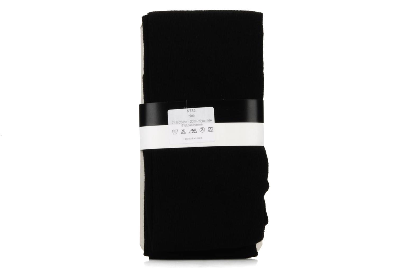 Chaussettes et collants Rose & Martin Collant rosay Noir vue derrière