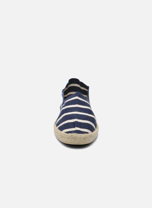 Espadrilles La maison de l'espadrille Sabline Rayure F Bleu vue portées chaussures