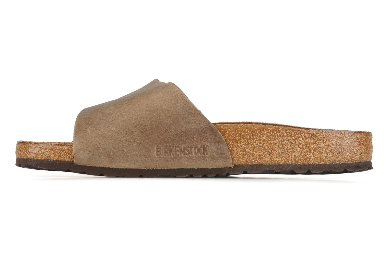 Sandales et nu-pieds Birkenstock Vaduz cuir m Marron vue face