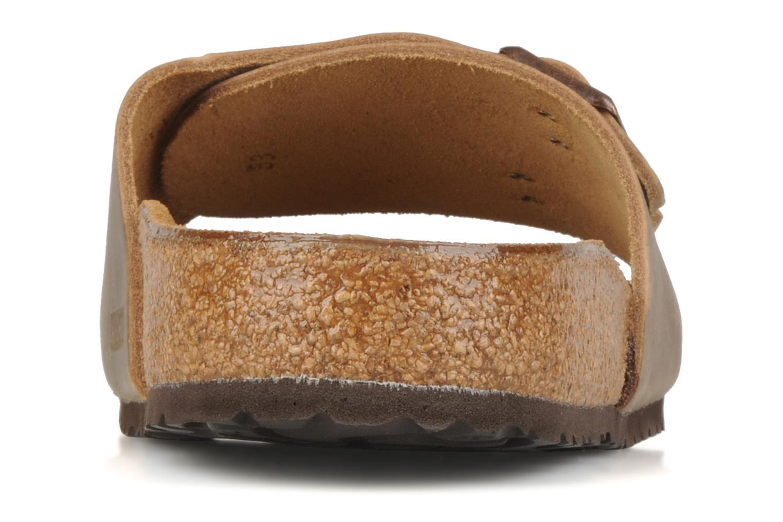 Sandales et nu-pieds Birkenstock Vaduz cuir m Marron vue droite