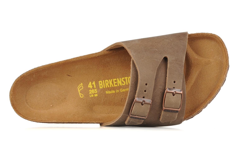 Sandales et nu-pieds Birkenstock Vaduz cuir m Marron vue gauche