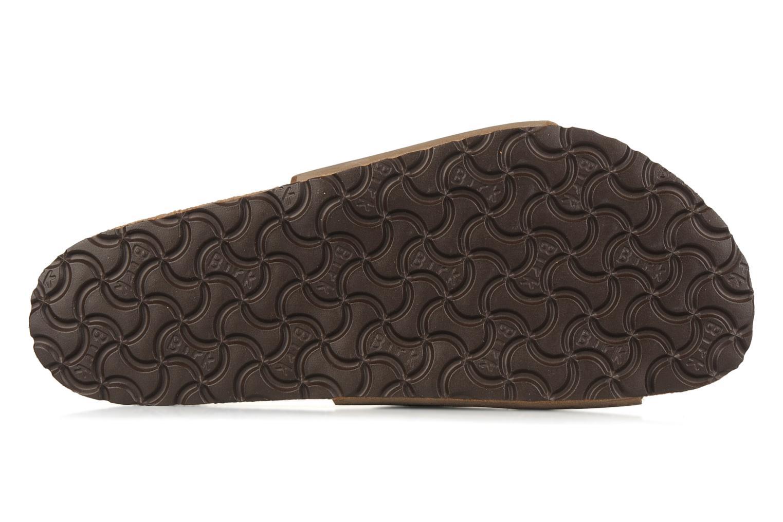 Sandales et nu-pieds Birkenstock Vaduz cuir m Marron vue haut
