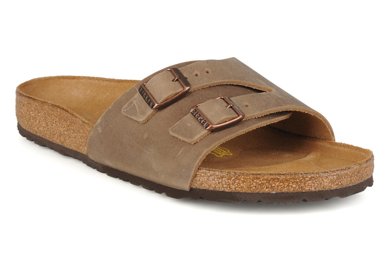 Sandales et nu-pieds Birkenstock Vaduz cuir m Marron vue détail/paire