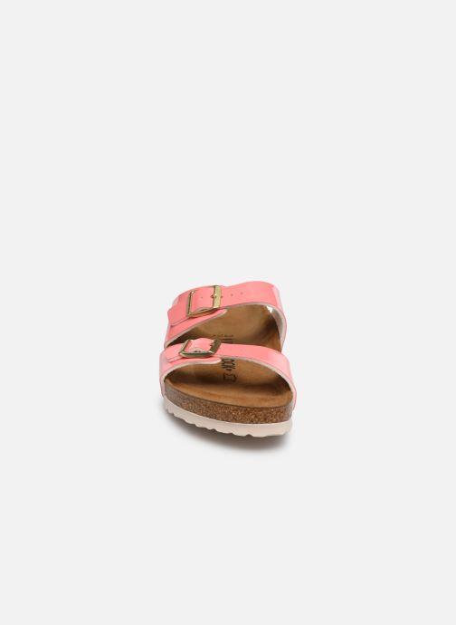 Mules et sabots Birkenstock Sydney Flor W Rose vue portées chaussures