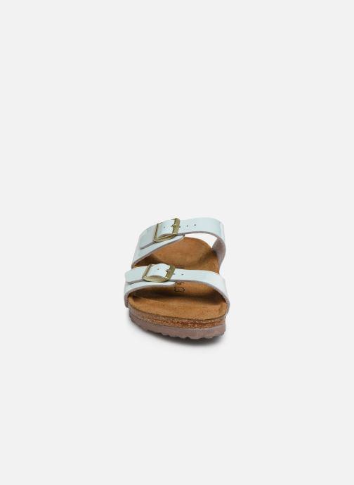 Mules et sabots Birkenstock Sydney Flor W Bleu vue portées chaussures