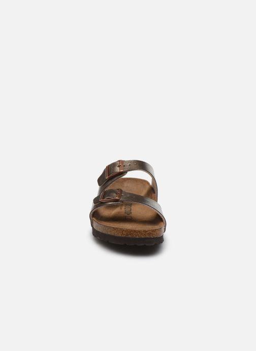 Mules et sabots Birkenstock Sydney Flor W Or et bronze vue portées chaussures