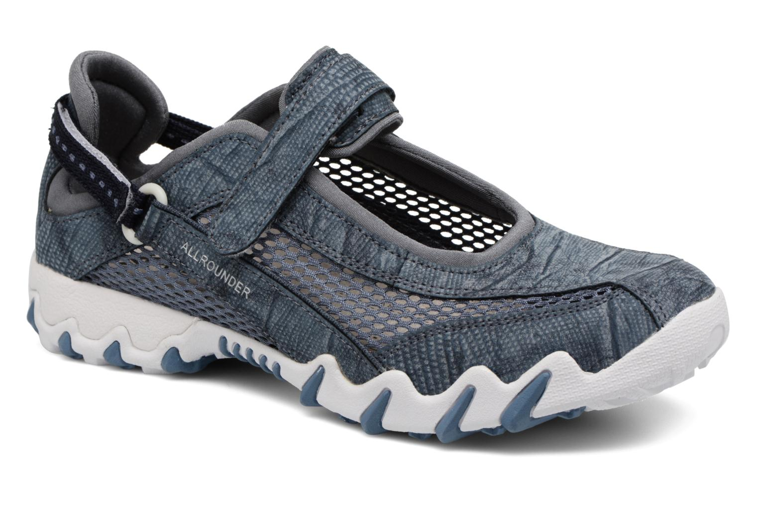 Sport shoes Allrounder by Mephisto Niro Blue detailed view/ Pair view