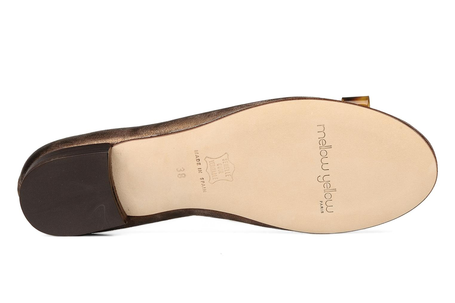 Ballet pumps Mellow Yellow Kamini Bronze and Gold view from above