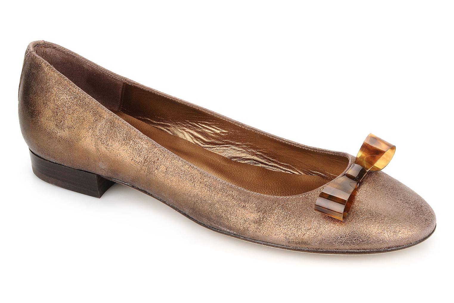 Ballet pumps Mellow Yellow Kamini Bronze and Gold detailed view/ Pair view