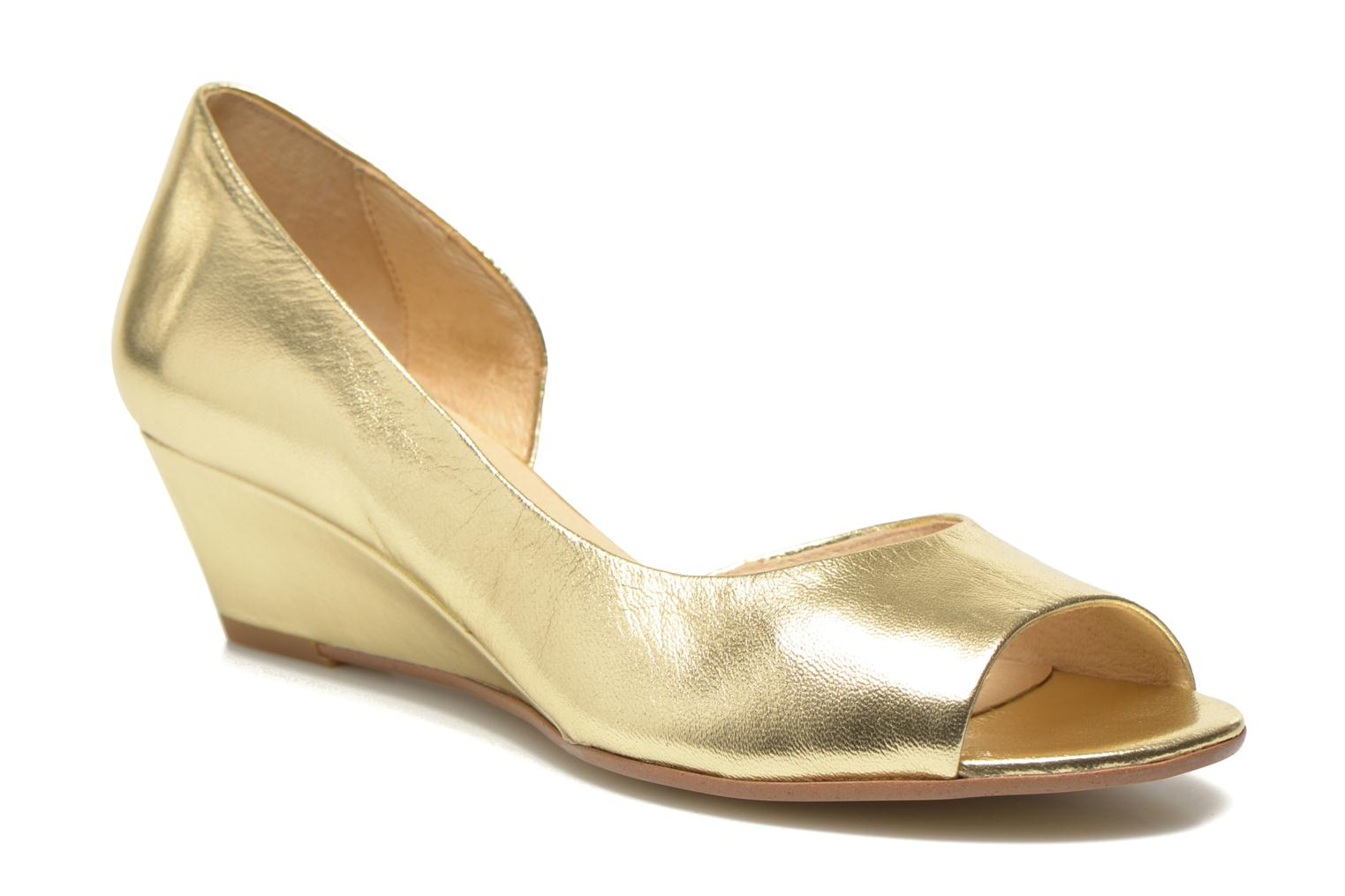 High heels Georgia Rose Phoeti Bronze and Gold detailed view/ Pair view