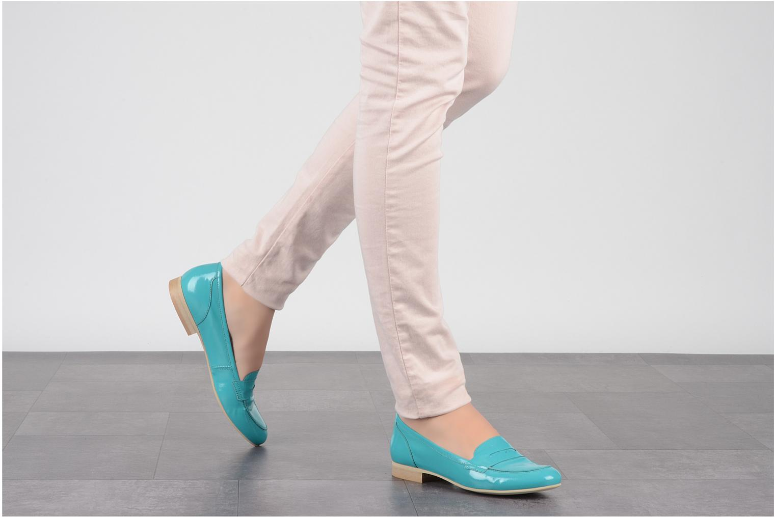 Loafers Georgia Rose Afuro Blue view from underneath / model view