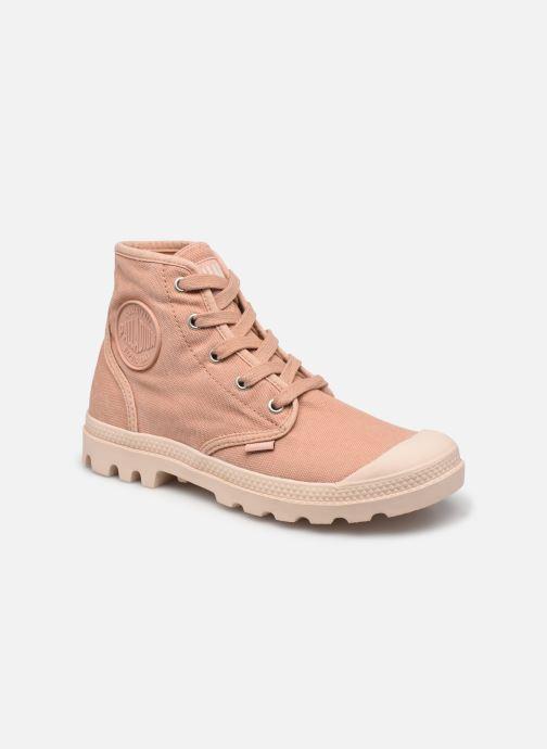 Sneakers Palladium Pampa hi w Roze detail