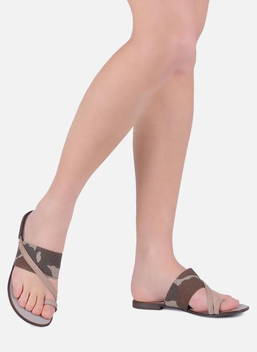 Sandales et nu-pieds Eden Tanza Vert vue bas / vue portée sac