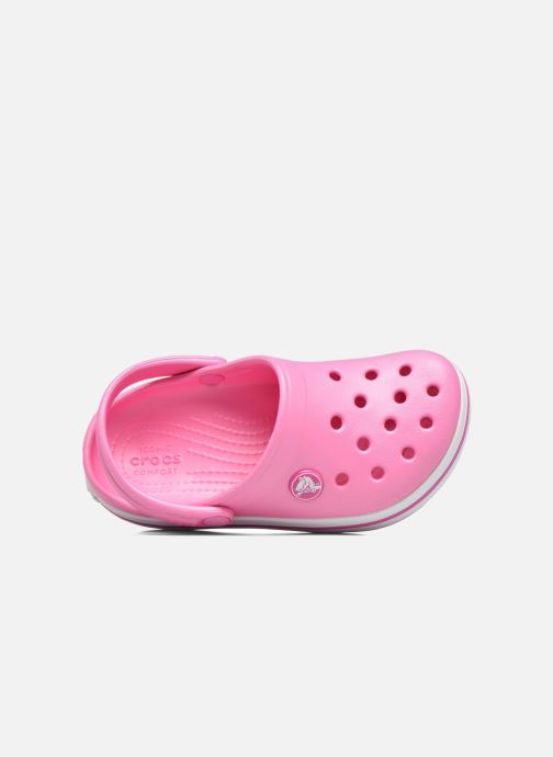 Sandals Crocs Crocband kids Pink view from the left