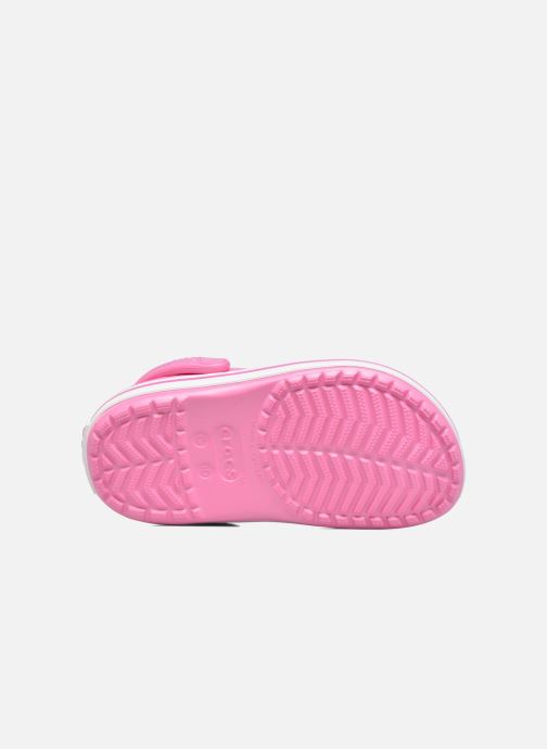 Sandals Crocs Crocband kids Pink view from above