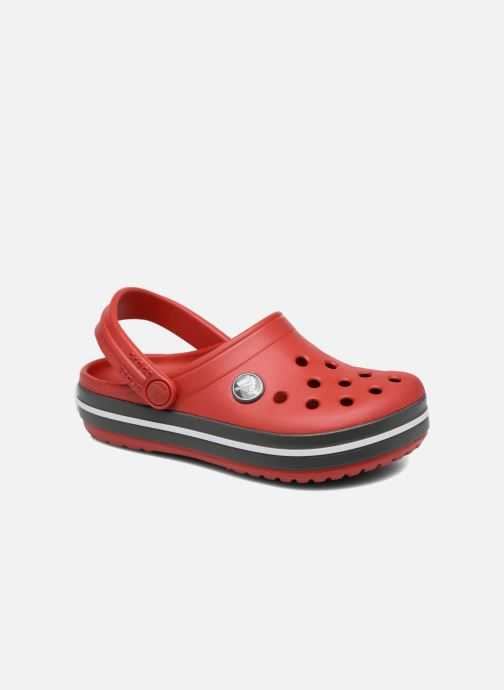 Sandals Crocs Crocband kids Red detailed view/ Pair view