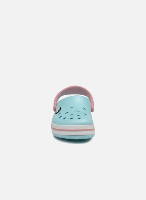 Sandalen Crocs Crocband kids blau schuhe getragen