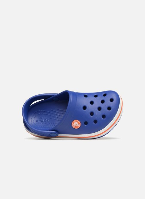 Sandals Crocs Crocband kids Blue view from the left