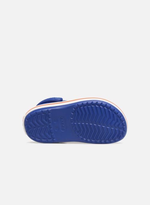 Sandals Crocs Crocband kids Blue view from above