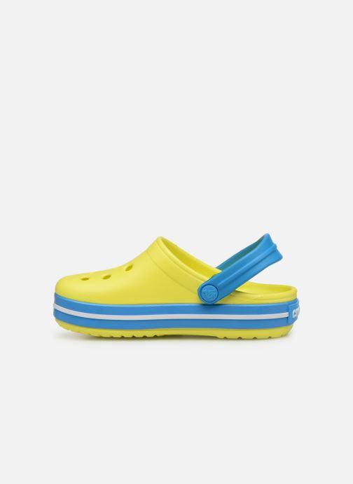 Sandales et nu-pieds Crocs Crocband kids Jaune vue face