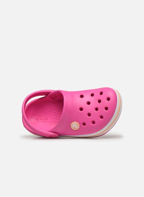 Sandales et nu-pieds Crocs Crocband kids Rose vue gauche
